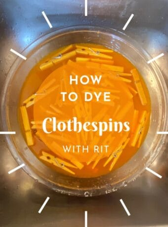 How to Dye Clothespins with RIT #clothespincrafts