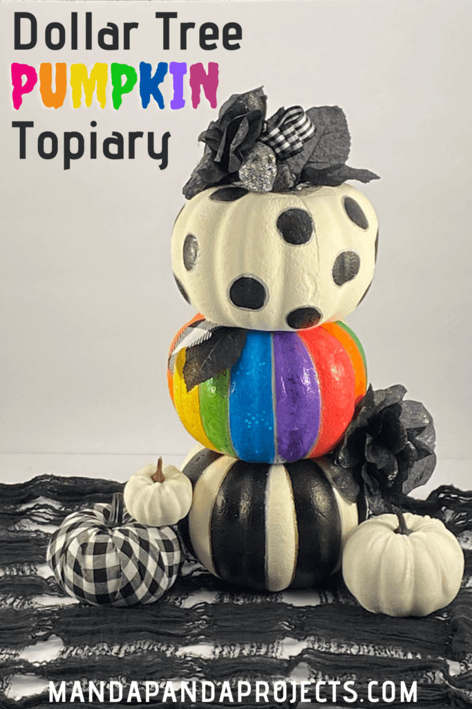 Dollar Tree Pumpkin Topiary A Rainbow And Buffalo Check Explosion