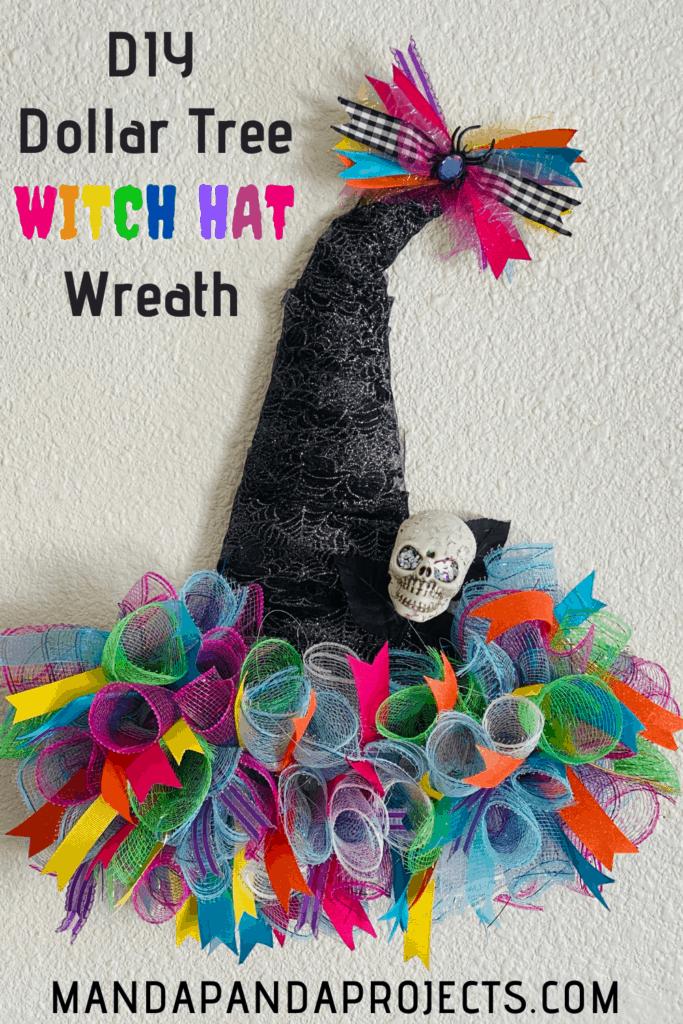Diy Dollar Tree Rainbow Deco Mesh Witch Hat Wreath Whimsical