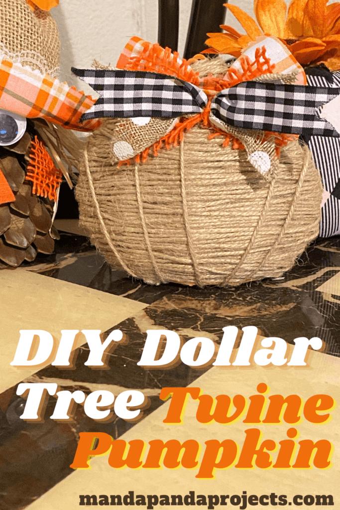 Dollar Tree Mini Diy Twine Pumpkin